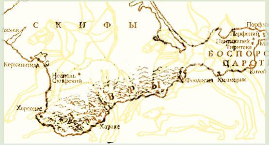 Карта Крыма Народ Тавры